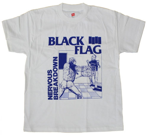 Black Flag- Nervous Breakdown on a white shirt