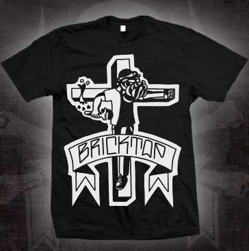 Bricktop- Crucified on a black shirt (Sale price!)