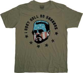 Big Lebowski- I Don't Roll On Shabbas on an army green shirt