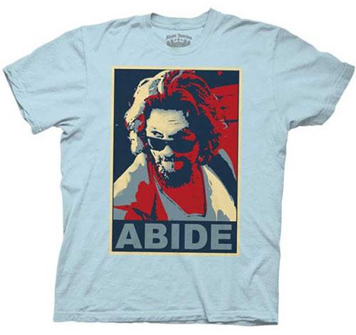 Big Lebowski- Abide on a light blue shirt