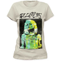 Blondie- Bonzai on a vintage white girls fitted shirt