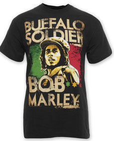 Bob Marley- Buffalo Soldier on a black shirt (Sale price!)