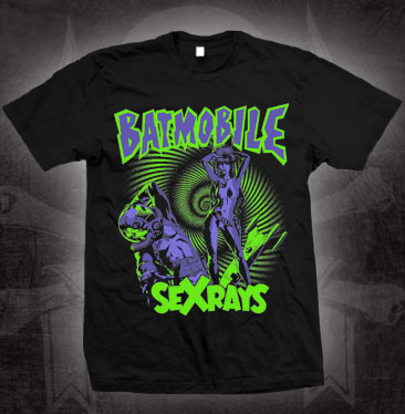 Batmobile- Sex Rays on a black shirt (Sale price!)