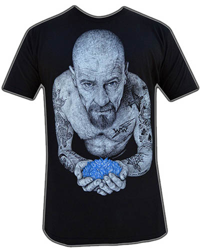 Heisenberg guys slim fit shirt by Black Market Art Company - artwork by Wayne Maguire - SALE sz S only