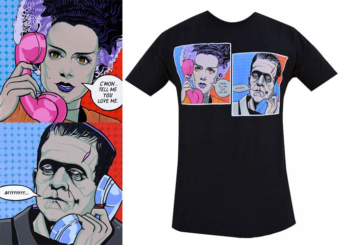 Tell Me You Love Me guys slim fit shirt by Low Brow Art Company - artwork by Mike Bell - SALE sz 2X only