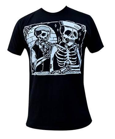 To the Grave slim fit black shirt by Black Market Art Company & Adi