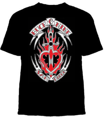 Buck-O-Nine- Sword on a black shirt (Sale price!)