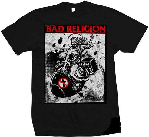Bad Religion- Atomic Jesus on a black shirt
