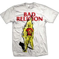 Bad Religion- Burning Suffer Kid on a white shirt