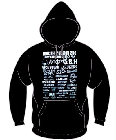 British Invasion 2K6 on a black hooded sweatshirt (Sale price!)
