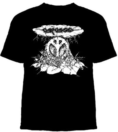 Carcass- Mushroom Cloud on black YOUTH sized shirt