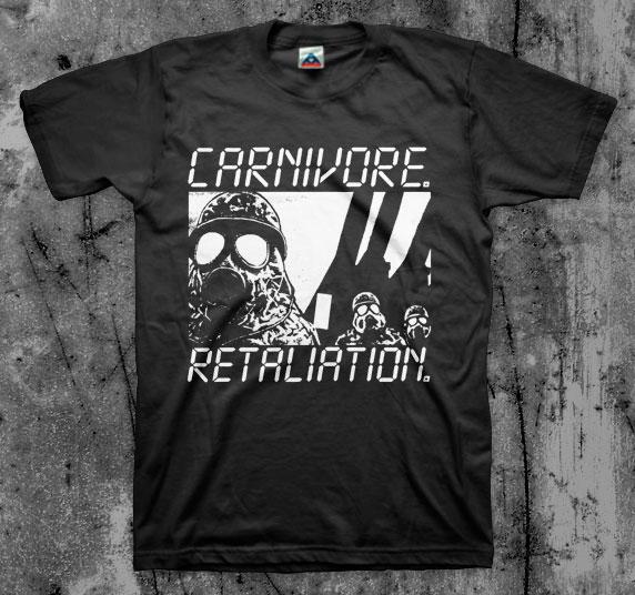 Carnivore- Retaliation on a black shirt