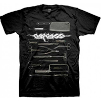 Carcass- Surgical Steel on a black shirt