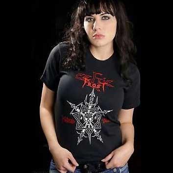 Celtic Frost- Morbid Tales on a black shirt