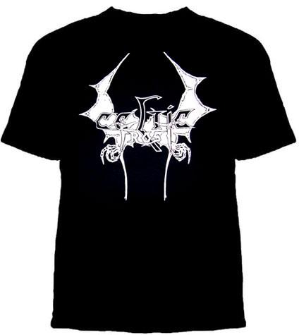 Celtic Frost- Wings Logo on a black shirt