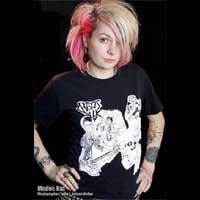 Chaos UK- The Singles on black shirt