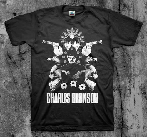 Charles Bronson- Bones on a black shirt
