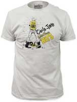 Circle Jerks- Golden Shower Of Hits on a vintage white ringspun cotton shirt (Sale price!)