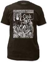Circle Jerks- Nun Classrom on a charcoal ringspun cotton shirt