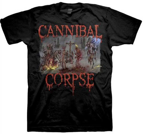 Cannibal Corpse- Box Set on a black shirt