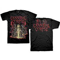 Cannibal Corpse- Acid on front, Logo on back on a black shirt
