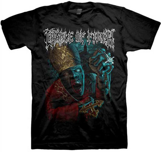 Cradle Of Filth- Vampire Priest on a black shirt