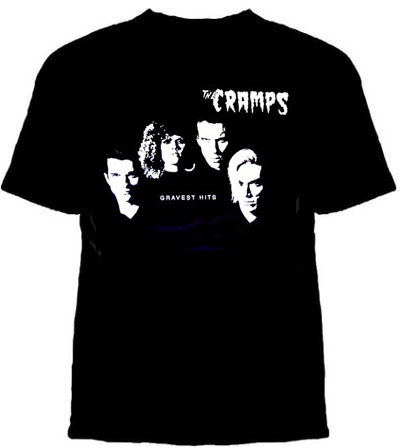 Cramps- Gravest Hits on a black shirt (Sale price!)