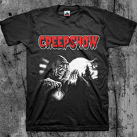 Creepshow- Crypt Keeper on a black shirt