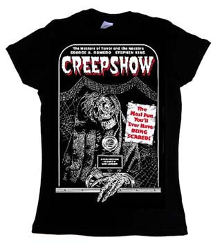 Creepshow- Ticketholder on a black girls fitted shirt