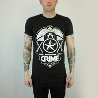 Crime- Shield on a black slim fit shirt (Sale price!)