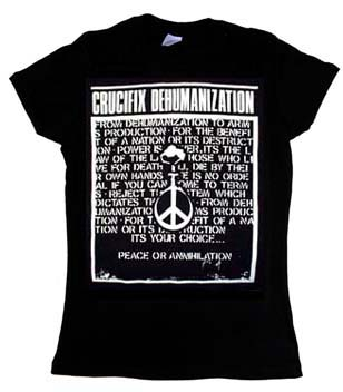 Crucifix- Dehumanization on a black girls fitted shirt (Sale price!)