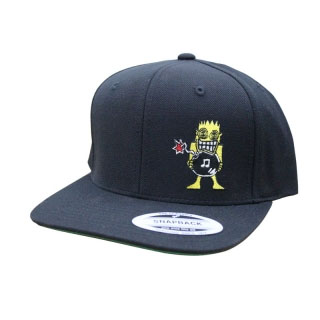 ALL- Allroy embroidered on a black baseball hat