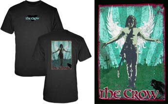 Crow- Logo on front, Winged Pic on back on a black shirt (Sale price!)