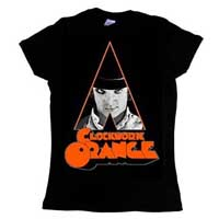 Clockwork Orange- Alex on a black girls fitted shirt
