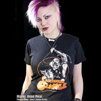 Clockwork Orange- Collage on a black shirt