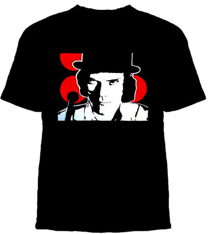 Clockwork Orange- Face on a black shirt