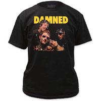 Damned- Damned Damned Damned on black shirt (Sale price!)
