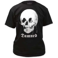 Damned- Girl In Mirror (Skull) on a black shirt (Sale price!)