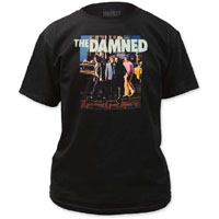 Damned- Machine Gun Ettiquette on black shirt (Sale price!)