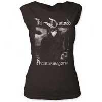 Damned- Phantasmagoria on a vintage black cap sleeve girls shirt (Sale price!)