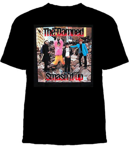 Damned- Smash It Up Band Pic on a black shirt