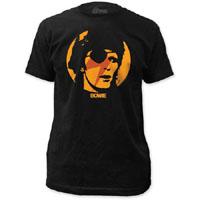 David Bowie- Eyepatch on a black ringspun cotton shirt