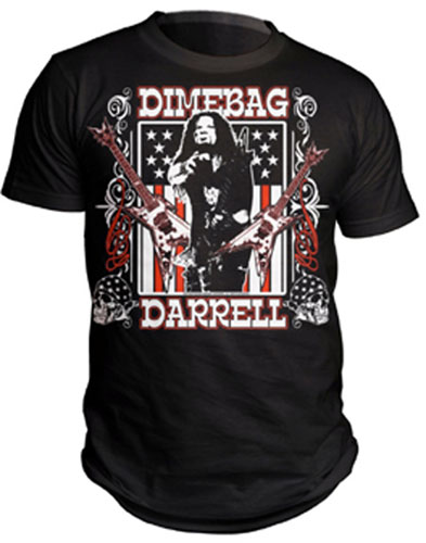 Dimebag Darrell- Flag Pic on a black shirt (Pantera) (Sale price!)