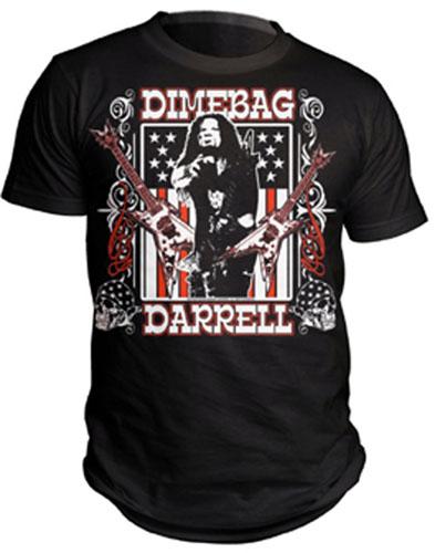 Dimebag Darrell- Flag Pic on a black shirt (Pantera)