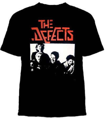 Defects- Band Pic on a black shirt (Sale price!)