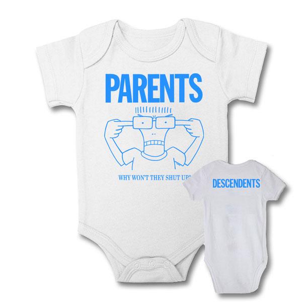 Descendents- Parents on a white onesie (S:3-6m, M:6-12m, L:12-18m, XL:18-24m)
