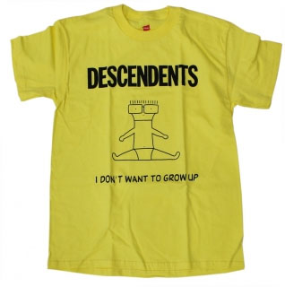 Descendents- I Don't Want To Grow Up on yellow shirt