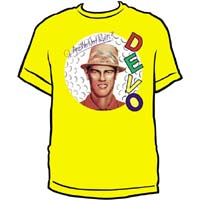 Devo- Are We Not Men? on a yellow shirt