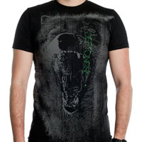 Deftones- Neon Wolf on a black ringspun cotton shirt (Sale price!)
