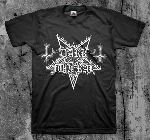 Dark Funeral- Goat Head Pentagram on a black shirt